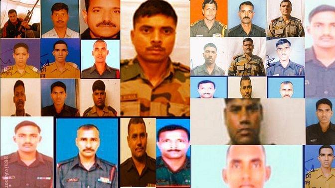 """पीएम मोदी ने वादा किया था कि उरी अटैक में शहीद हुए भारतीय जवानों की शहादत को वो व्यर्थ नहीं जाने देंगे. आरोपियों को सजा जरूर दी जाएगी. (<b>फोटो: <a href=""""https://twitter.com/ShivAroor"""">Twitter/@Shiv Aroor</a></b>)"""