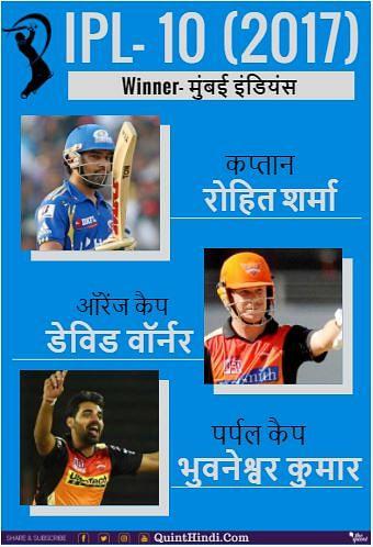 10वें सीजन में मुंबई इंडियंस ने तीसरी बार अपनी जीत दर्ज कराई