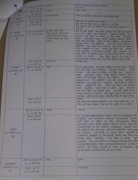 UP Board Exam 2019: 10वीं और 12वीं का टाइमटेबल जारी, यहां देखिए