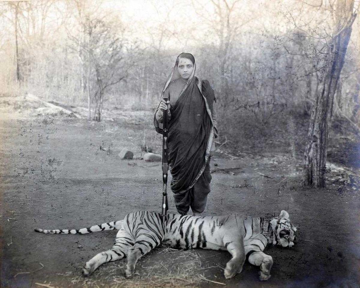बड़ौदा की महारानी चिमनाबाई द्वितीय का चित्र