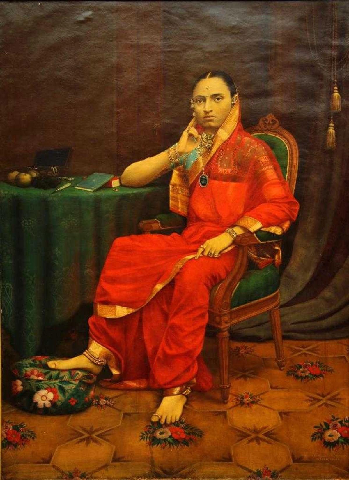 बड़ौदा की महारानी जमनाबाई का एक चित्र.