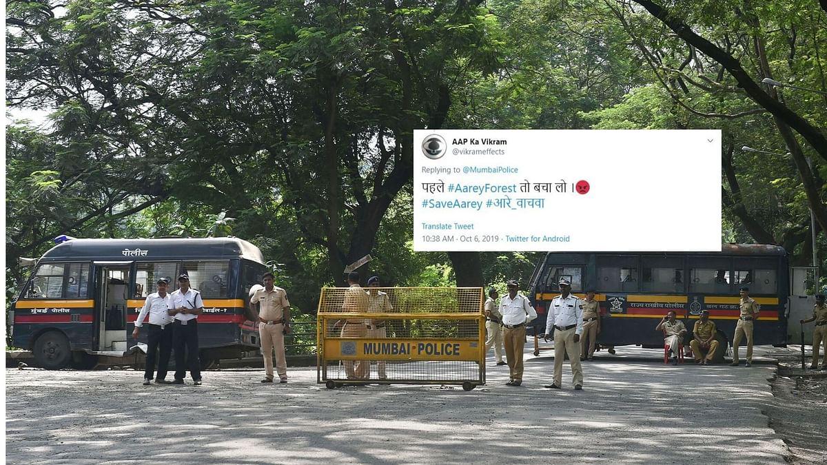 सोशल मीडिया यूजर्स आरे कॉलोनी मामले में मुंबई पुलिस की चुप्पी पर सवाल उठा रहे हैं.