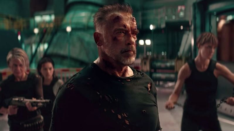 <i>Terminator:Dark Fate </i>में कार्ल की भूमिका में अर्नोल्ड श्वार्जनेगर