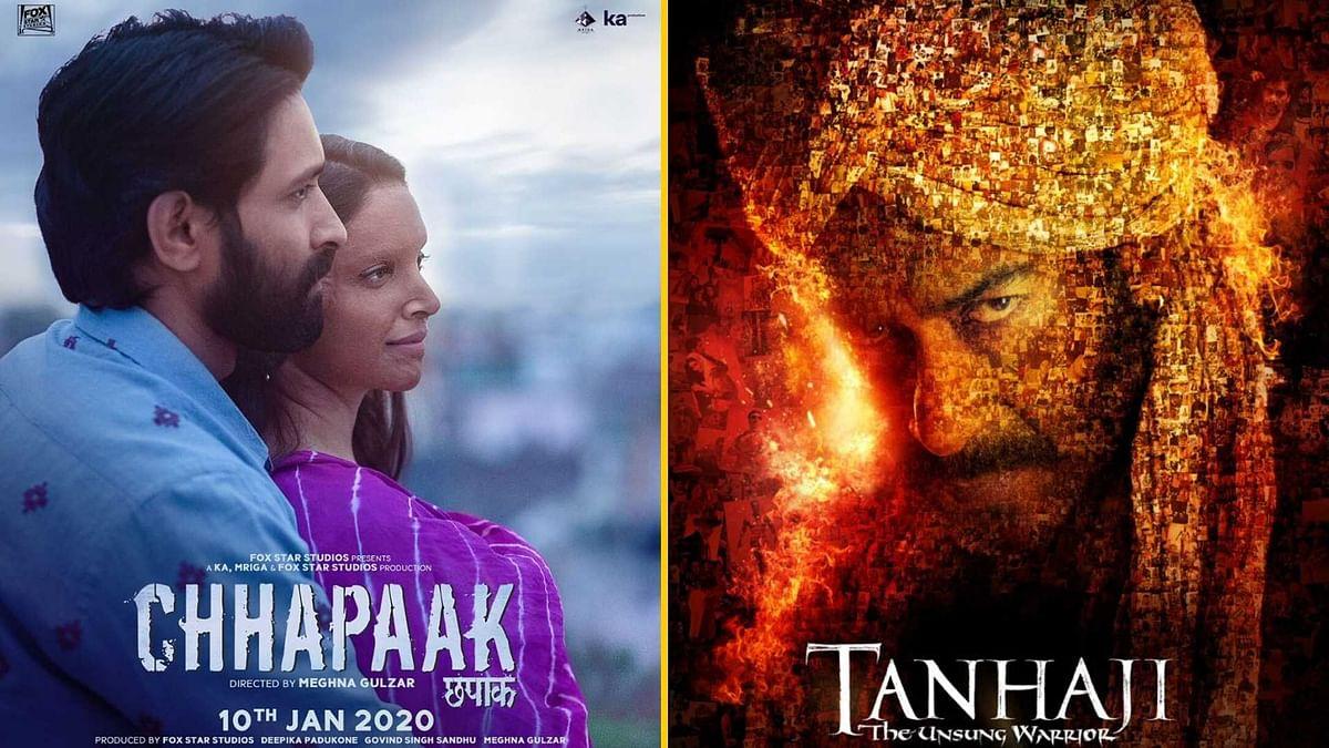 #BoycottDeepika के बावजूद 'तानाजी' पर भारी पड़ रही 'छपाक'