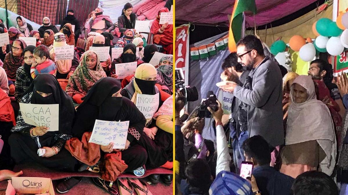 अनुराग कश्पय जामिया के बाद शाहीन बाग प्रदर्शनकारियों से मिलने पहुंचे