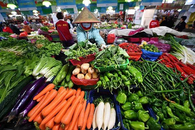हैनान प्रॉविन्स में हैकाऊ का सब्जी बाजार. कोरोना वायरस संक्रमण के इस दौर में चीनी सरकार ने कई ऐसे कदम उठाए हैं जिससे रोजमर्रा की आवश्यकताओं के लिए आपूर्ति और कीमत की स्थिरता सुनिश्चित रहे.