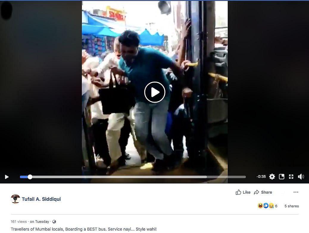 मुंबई-दिल्ली नहीं, कोलकाता का है बस में चढ़ती भीड़ का वायरल वीडियो