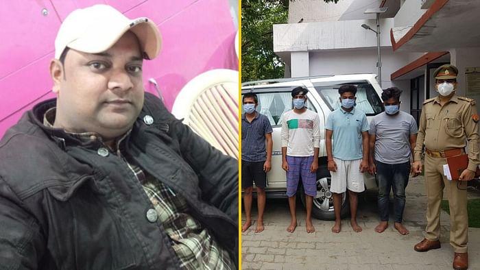 लेफ्ट: पत्रकार विक्रम जोशी, राइट: गिरफ्तार आरोपी