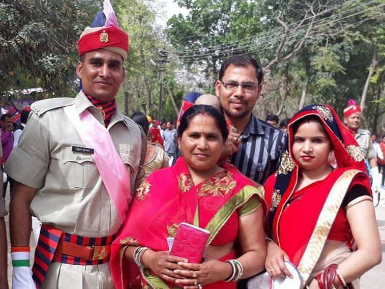 शहीद सिपाही राहुल जिनके परिवार ने आरोप लगाए हैं