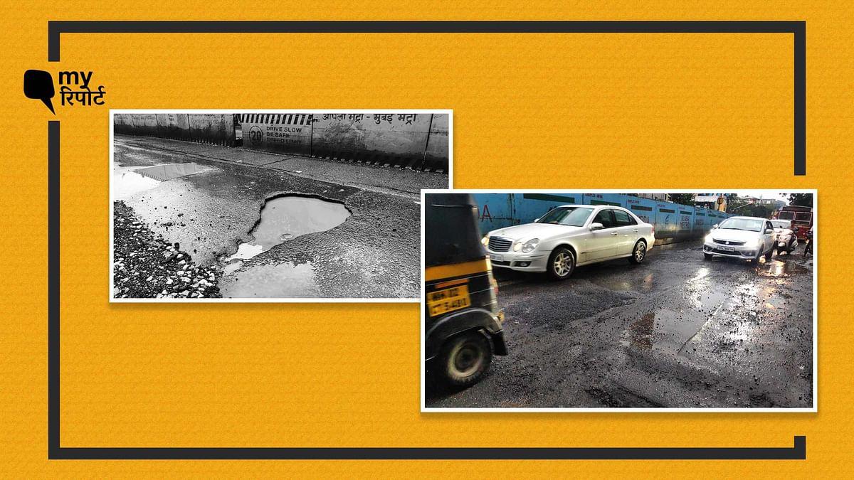 My रिपोर्ट का असर: BMC ने मुंबई के सांताक्रुज के गड्ढे को ठीक किया