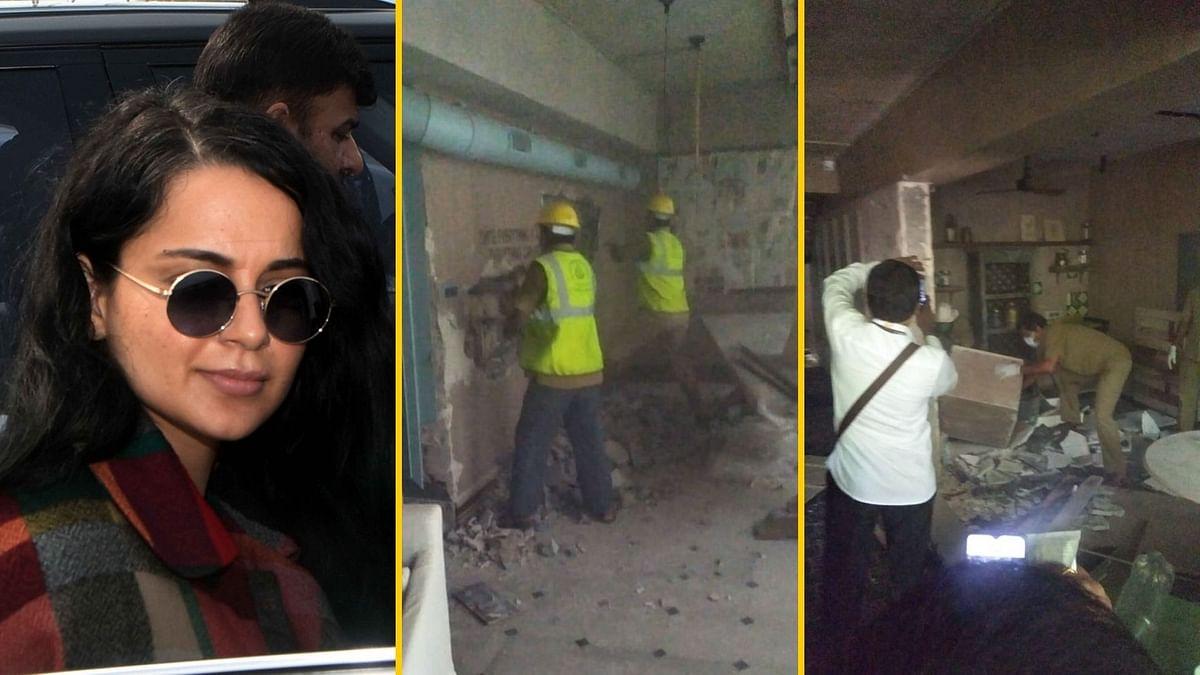 कंगना के ऑफिस में BMC की तोड़फोड़,एक्ट्रेस बोलीं-लोकतंत्र की हत्या