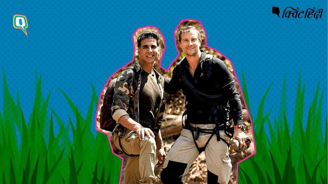 जंगल में बेयर ग्रिल्स के साथ अक्षय कुमार