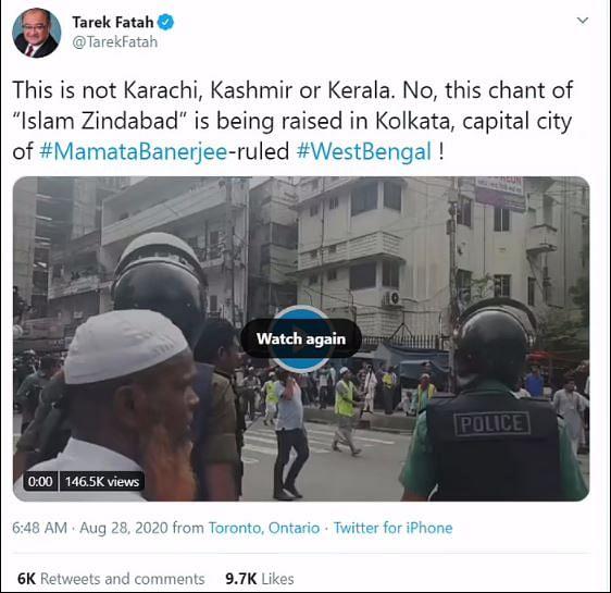 ढाका में हुआ मुसलमानों का प्रदर्शन, फतेह ने बता दिया कोलकाता का
