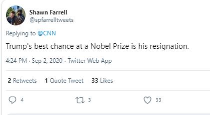 नोबेल के लिए ट्रंप नॉमिनेट,ट्विटर यूजर बोले-अब कोई इच्छा नहीं बची