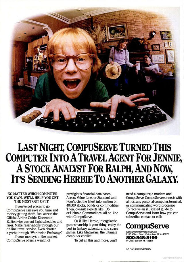 CompuServe, convinced Associated Press to give away their copy for free—all by portraying it as an experiment.