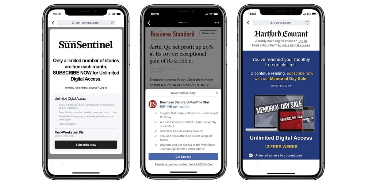 Facebook has been testing subscriptions in Instant Articles with over 40 publishers worldwide over the past 18 months