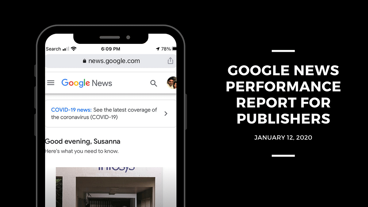 Google introduces News Performance Report to the Search Console