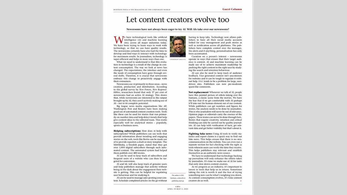 Let content creators evolve too