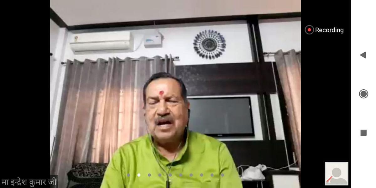 विश्व की शक्तिशाली एवं विकसित सभ्यताओं के मापदंड कोरोना संकट काल में टूटे : इंद्रेश कुमार