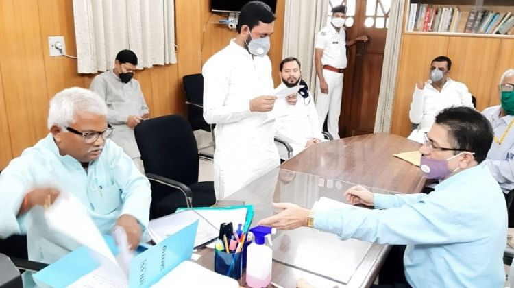 यौन शोषण के आरोपी  रामबली सिंह सहित  राजद के फारूक शेख और सुनील सिंह ने किया नामांकन