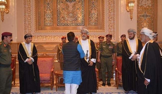 ओमान नए सुल्तान से मिले नकवी, काबूस के निधन पर प्रकट की संवेदना, मोदी का निजी पत्र सौंपा