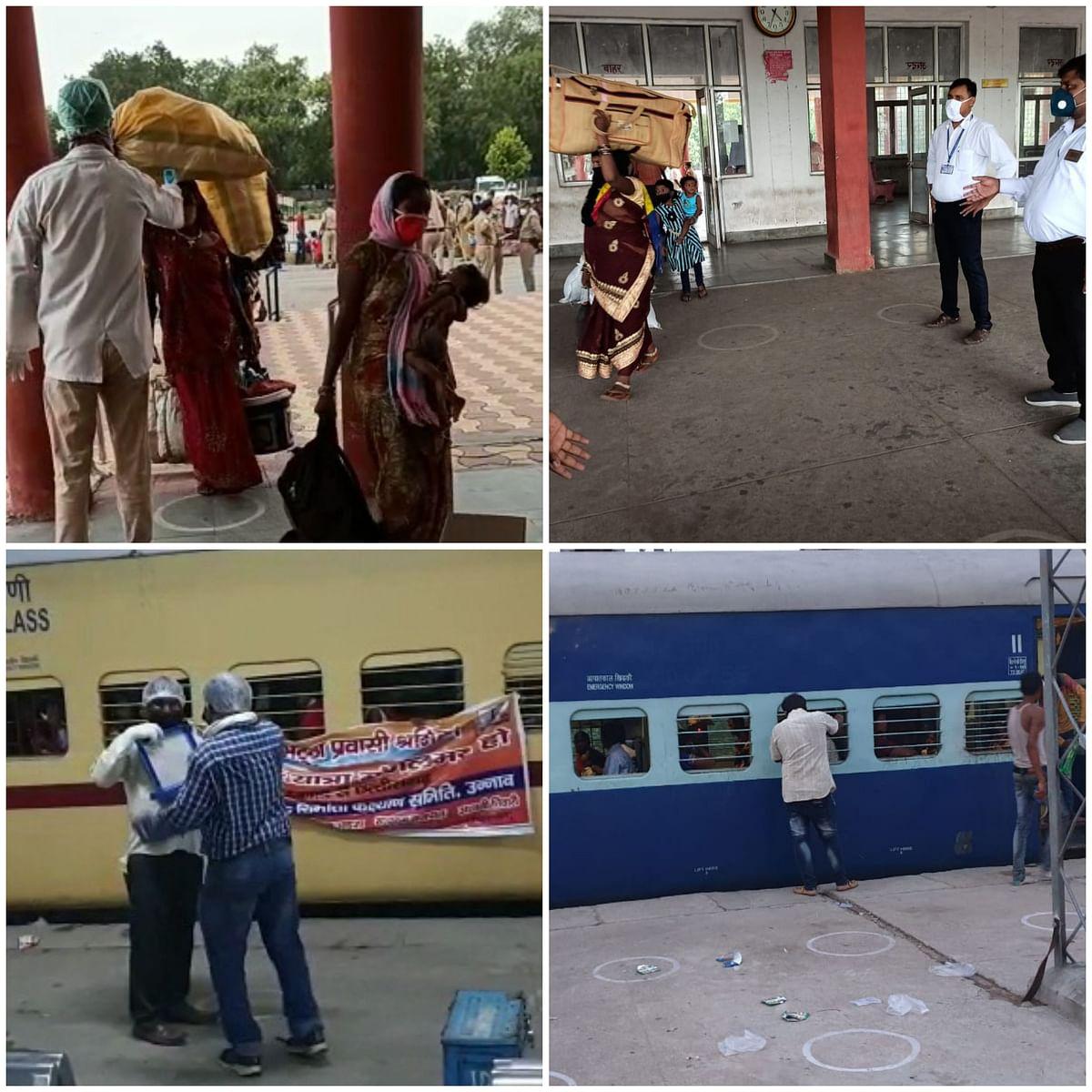 उन्नाव व कानपुर के 1200 श्रमिकों को लेकर रायपुर को रवाना हुई श्रमिक स्पेशल