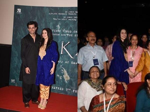 निर्देशक विधु विनोद चोपड़ा  की फिल्म शिकारा की मुंबई में स्पेशल स्क्रीनिंग- फोटो
