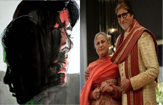 अमिताभ   बच्चन  ने  शेयर  किया   'मिली ' का  आर्ट वर्क