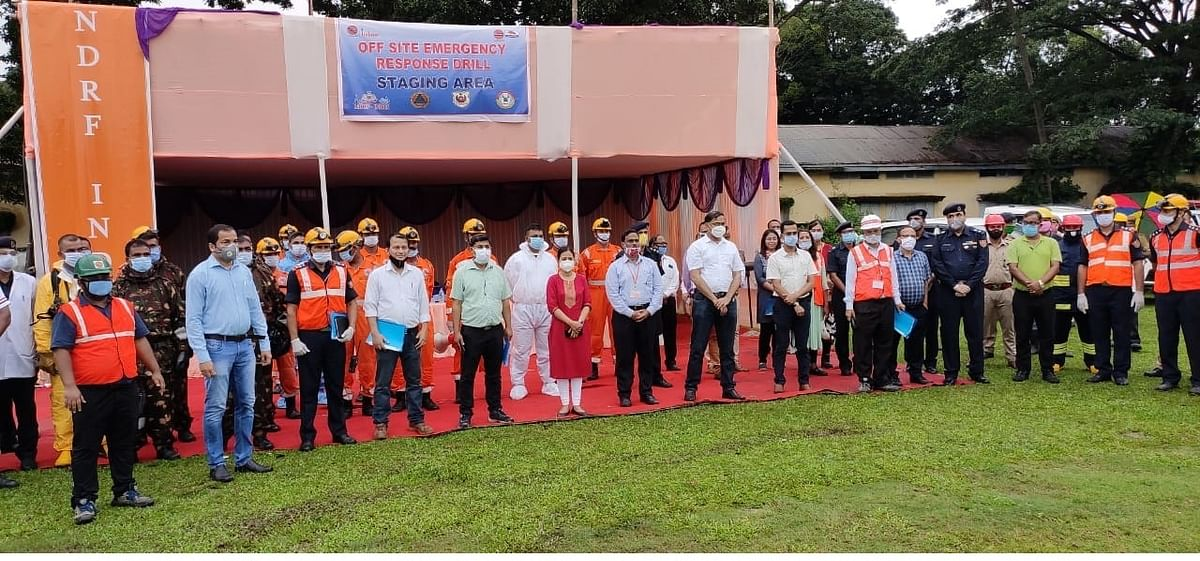 इंडियन आयल कारपोरेशन बॉटलिंग में आपदा प्रबंधन पर संयुक्त मॉक ड्रिल