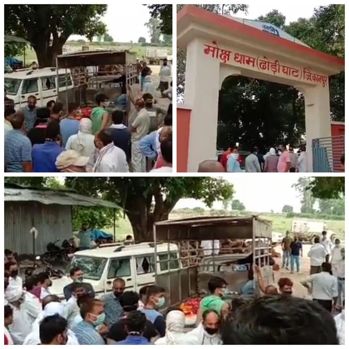बसपा नेता पिंटू सेंगर का आठ घंटे चला पोस्टमार्टम, अंतिम संस्कार में जुटी भीड़