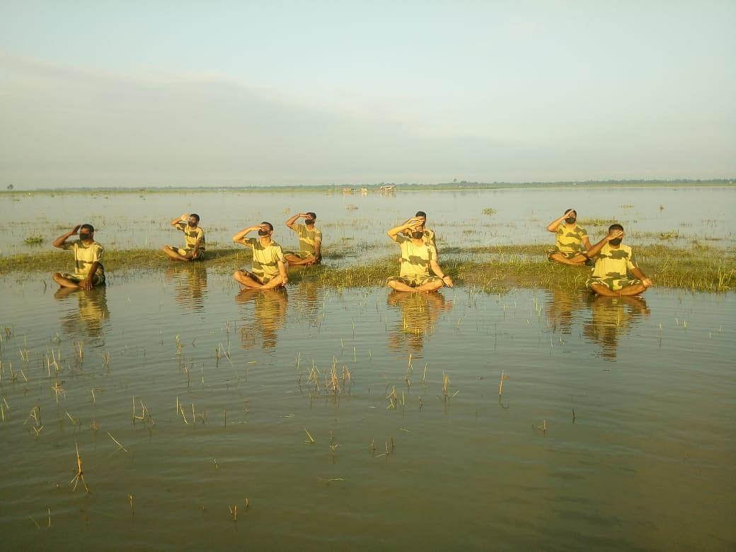 सीसुब गुवाहाटी फ्रंटियर ने मनाया छठा अन्तर्राष्ट्रीय योग दिवस