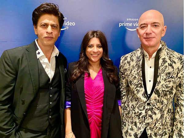 Amazon Prime के इवेंट में पहुंचे जेफ बेजोस, शाहरुख खान समेत बॉलीवुड सितारों से की मुलाकात