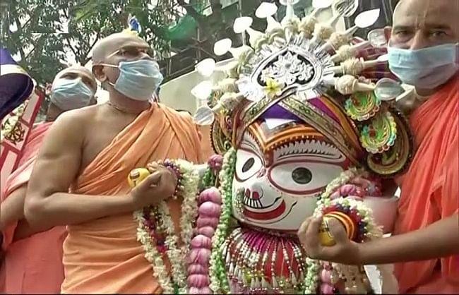 624 सालों में पहली बार जगन्नाथ रथ के पहिए थमे, इस्कॉन मंदिर में ही यात्रा