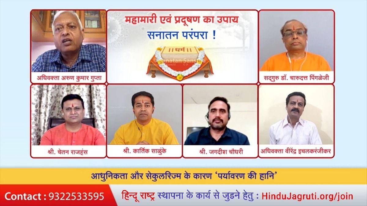 गंगाजल में कोरोना के विषाणुओं के प्रदुभाव से मुक्ति देने की शक्ती है: अरुण कुमार