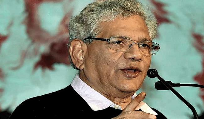 सीताराम येचुरी का तंज, कहा- PM मोदी को 'नौकरी पर चर्चा' करनी चाहिए