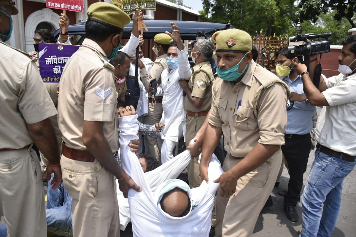 उप्र : पुलिस हिरासत में लिए गए कांग्रेस अध्यक्ष लल्लू और पीएल पुनिया