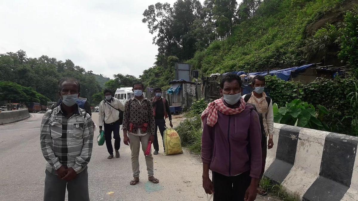 आइजोल से झारखंड पैदल निकले सात मजदूर