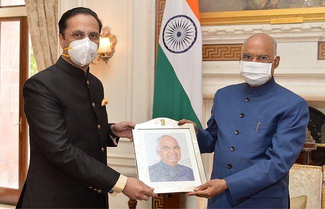 वेनेजुएला में भारत के नवनियुक्त राजदूत ने राष्ट्रपति कोविंद से की मुलाकात