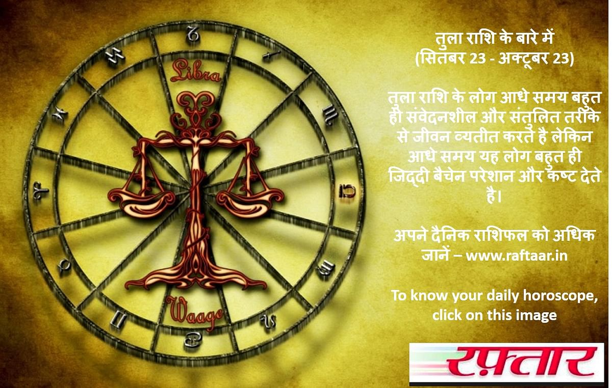 दैनिक राशिफल तुला - Daily Rashifal Tula Rashi