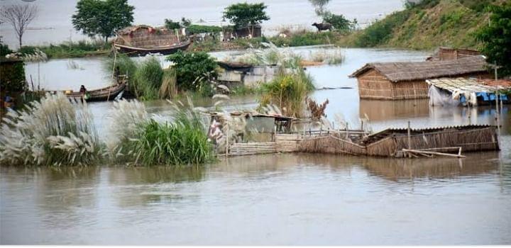भोजपुर के बड़हरा इलाके में गंगा ने बढ़ाई हलचल,  जल्द ही बाढ़ की चपेट में होंगे  कई गांव