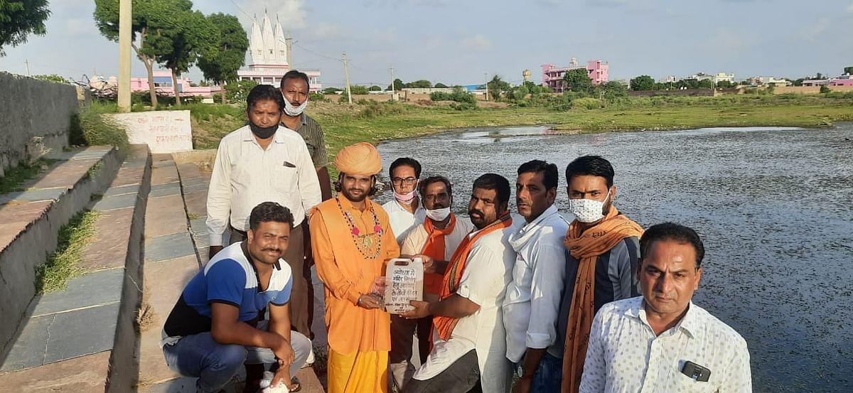 अयोध्या राममंदिर के लिए सवाईभोज से भेजा जल व मिट्टी