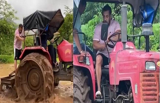 खेती में समय बिताते हुए सलमान खान ने चलाया ट्रैक्टर, वीडियो हुआ वायरल