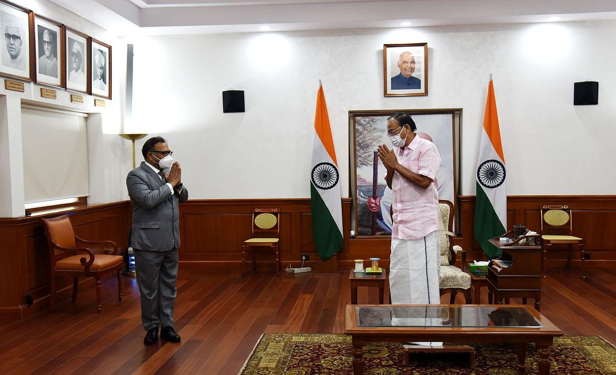 पापुआ न्यू गिनी में भारत के नवनियुक्त उच्चायुक्त ने उपराष्ट्रपति से की मुलाकात