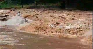 दो दिन हुई भारी बारिश से नदी नाले उफान पर