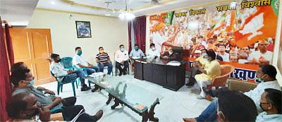 भाजपा की कालाढुंगी विधानसभा के तीनों मंडलो की बैठक सम्पन्न
