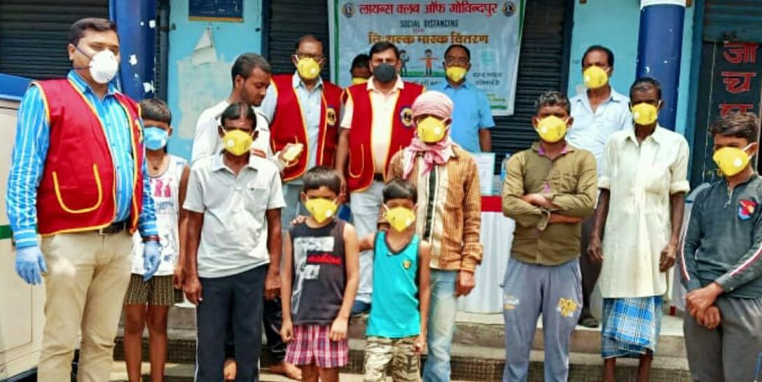 लायंस क्लब गोविंदपुर ने कोरोना के खिलाफ चलाया जागरूकता अभियान।