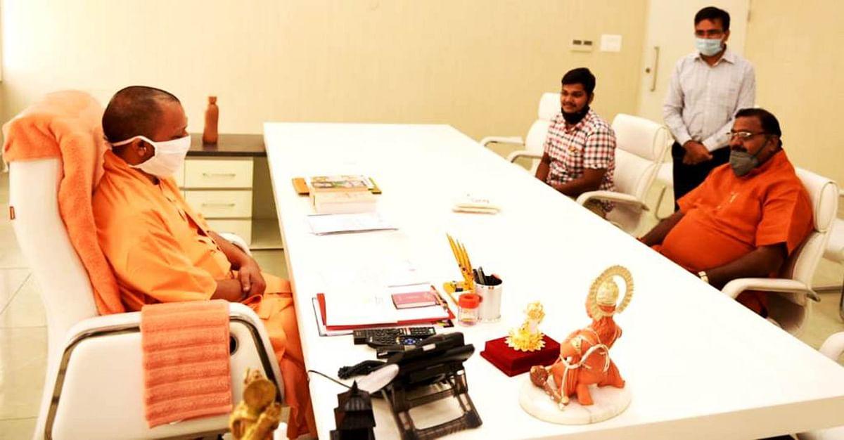 सीएम योगी से मुलाकात कर व्यापारी नेता पंकज अग्रवाल ने की धर्म नगरी चित्रकूट के चहुमुखी पर चर्चा