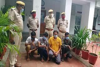 लॉकडाउन के दौरान चुराई थी 40 लाख की बीड़ी, पुलिस ने गिरोह के 4 सदस्यों को दबोचा