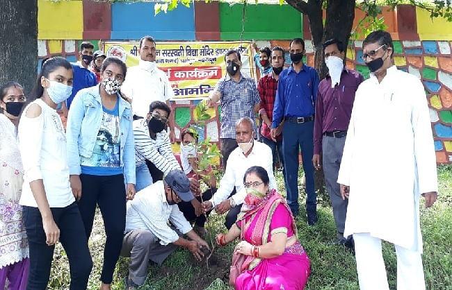 हरेला पर्व के उपलक्ष्य में एनएसएस स्वयं सेवियों ने किया पौधरोपण