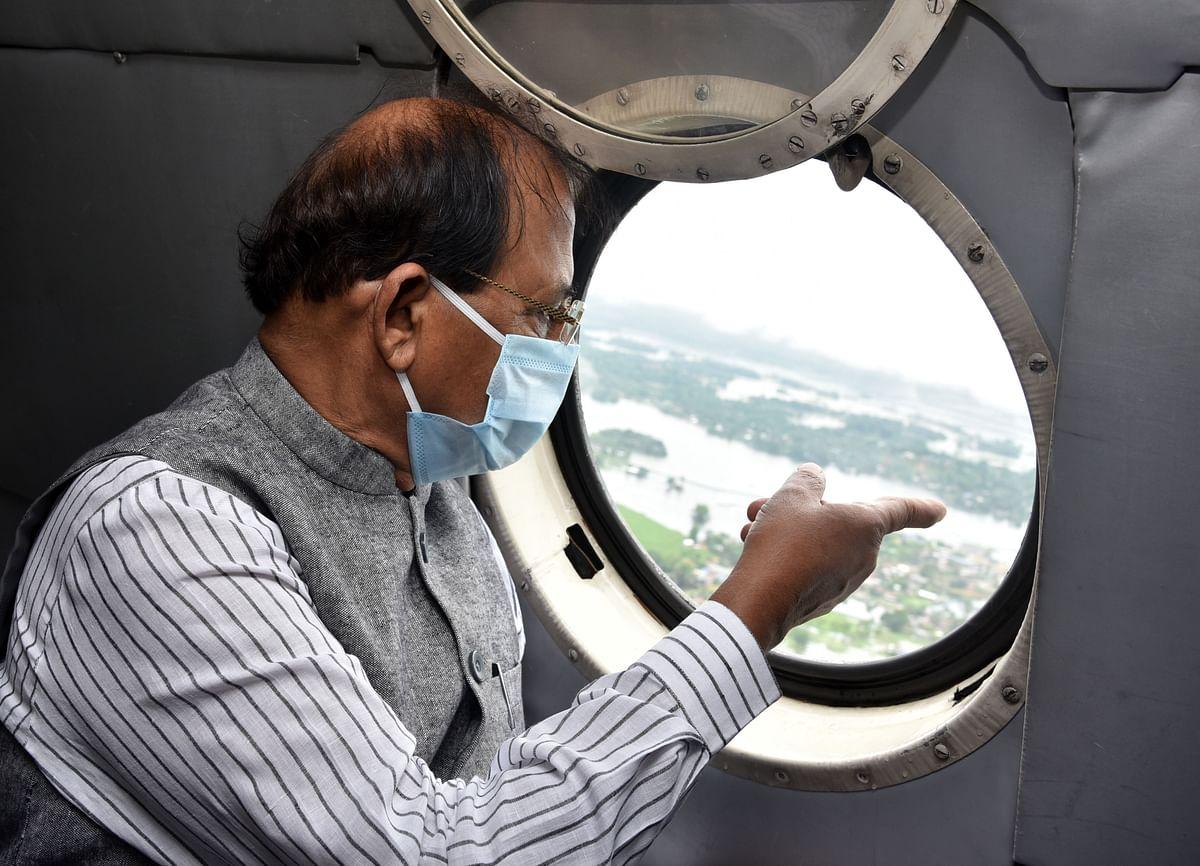 राज्यपाल ने बाढ़ प्रभावित जिलों का किया हवाई सर्वेक्षण